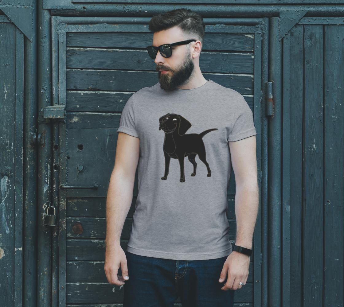 Labrador Retriever Black Cartoon Tee preview #2