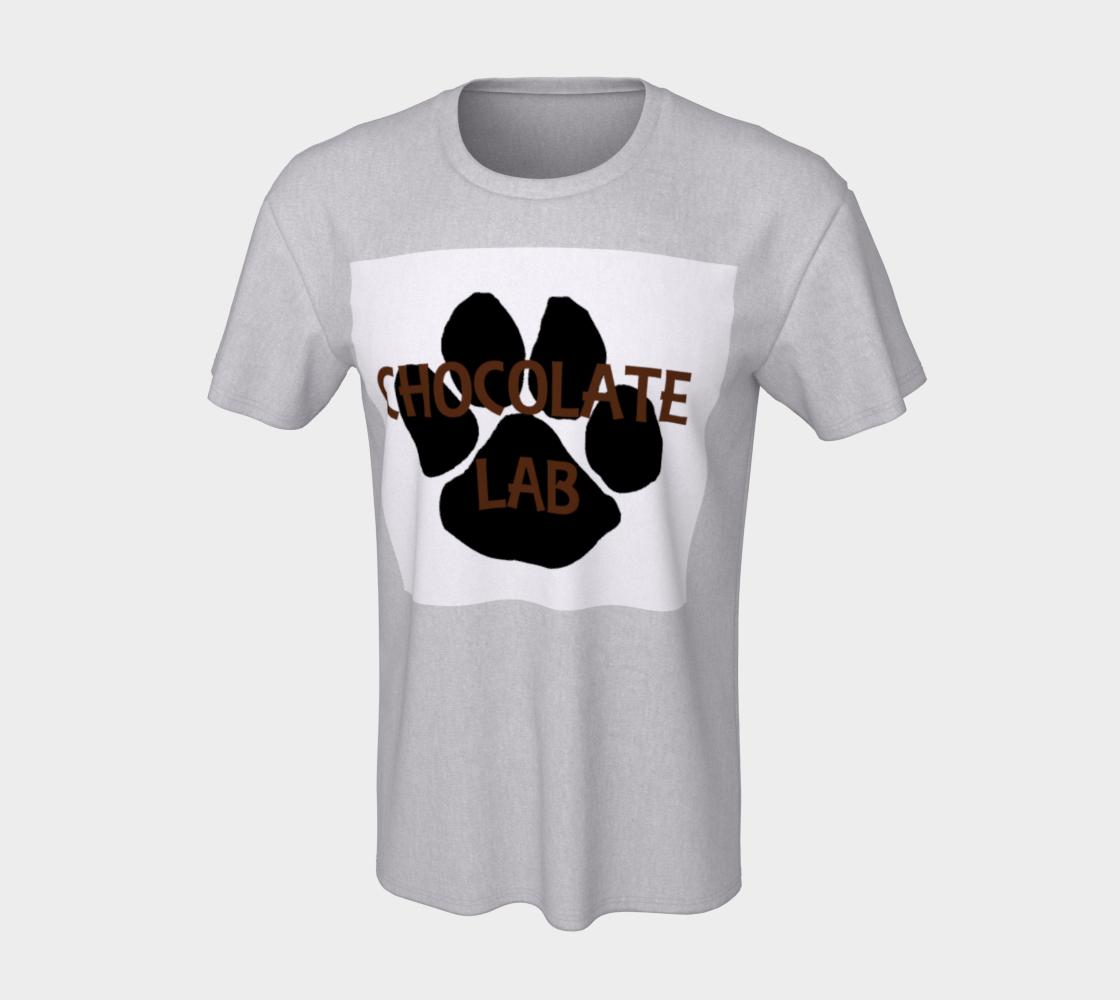 Labrador Retriever chocolate name paw unisex tee preview #7