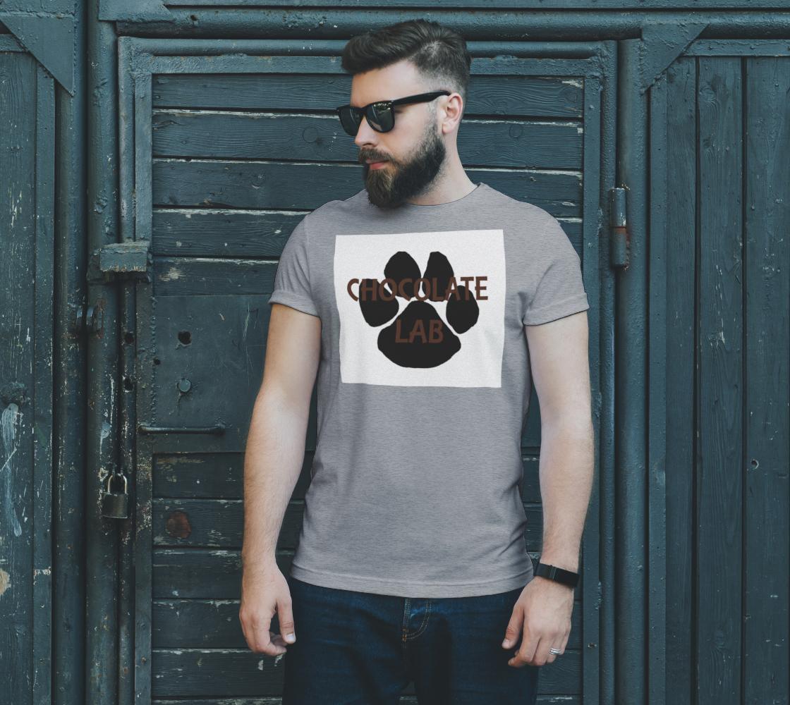 Labrador Retriever chocolate name paw unisex tee preview #2