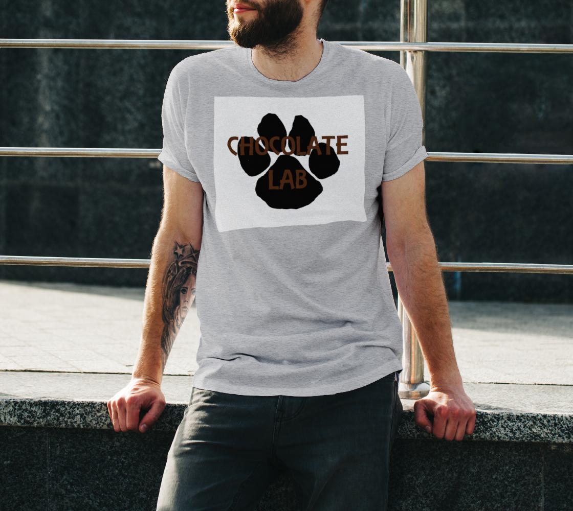 Labrador Retriever chocolate name paw unisex tee preview #3