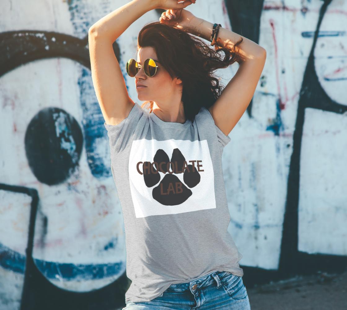Labrador Retriever chocolate name paw unisex tee preview #4