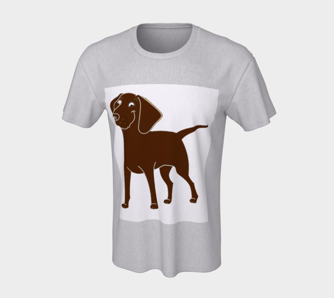 Labrador Retriever chocolate cartoon unisex tee preview #7
