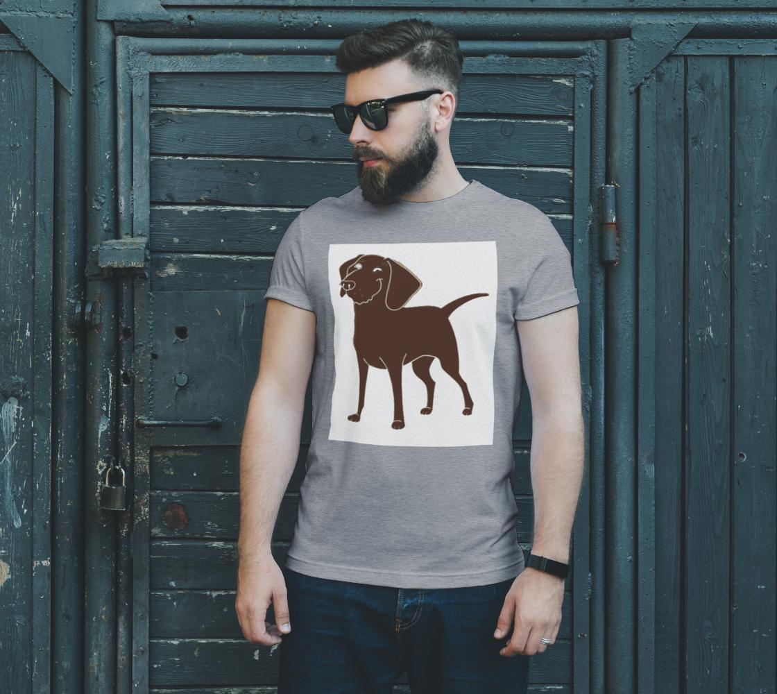 Labrador Retriever chocolate cartoon unisex tee preview #2