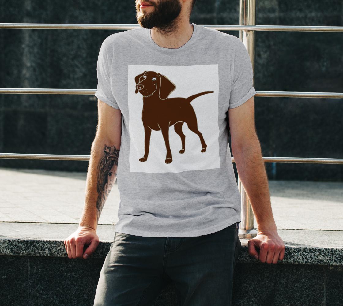Labrador Retriever chocolate cartoon unisex tee preview #3