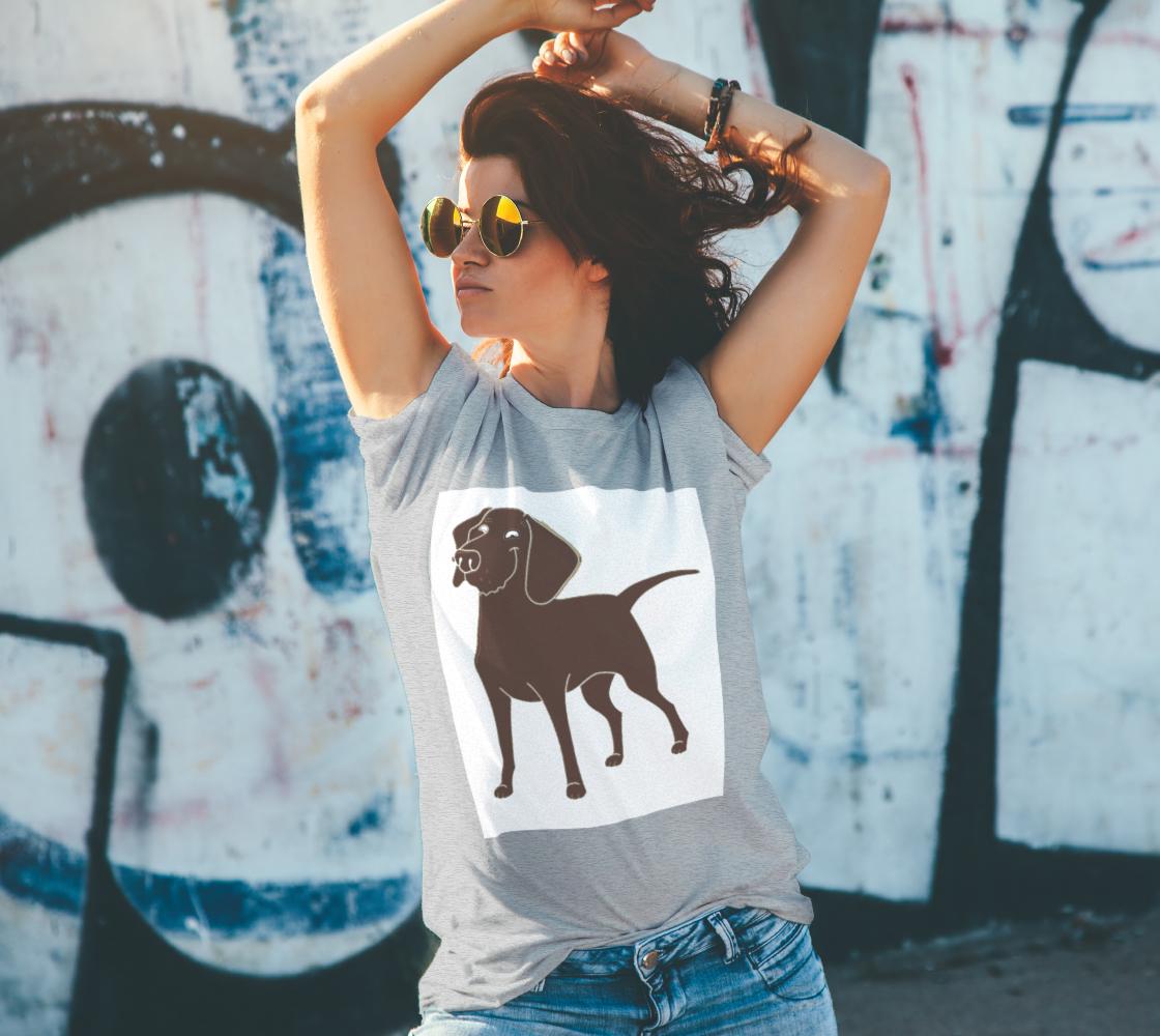 Labrador Retriever chocolate cartoon unisex tee preview #4