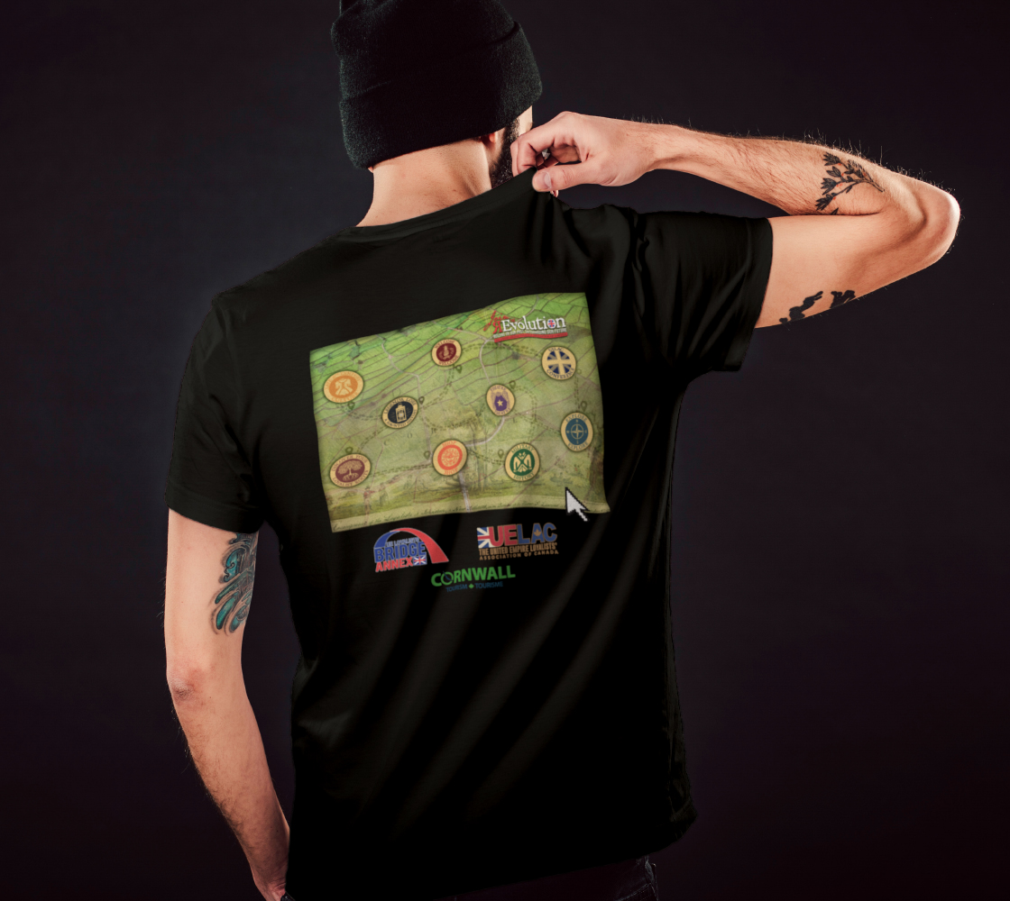 2021 Conference tee with map on back - black preview #5