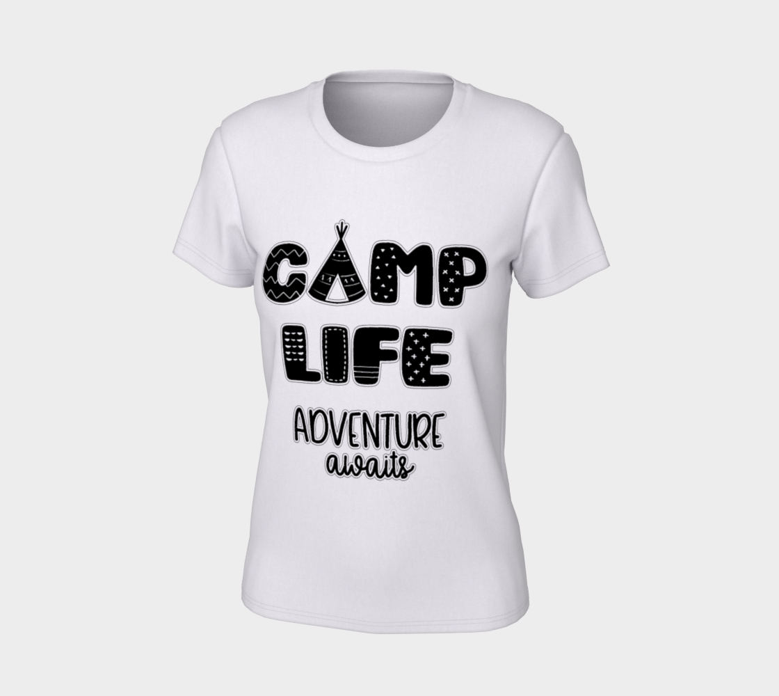 Camp Life Adventure Awaits Women's T-Shirt preview #7