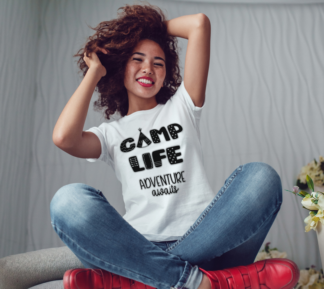 Camp Life Adventure Awaits Women's T-Shirt preview #3