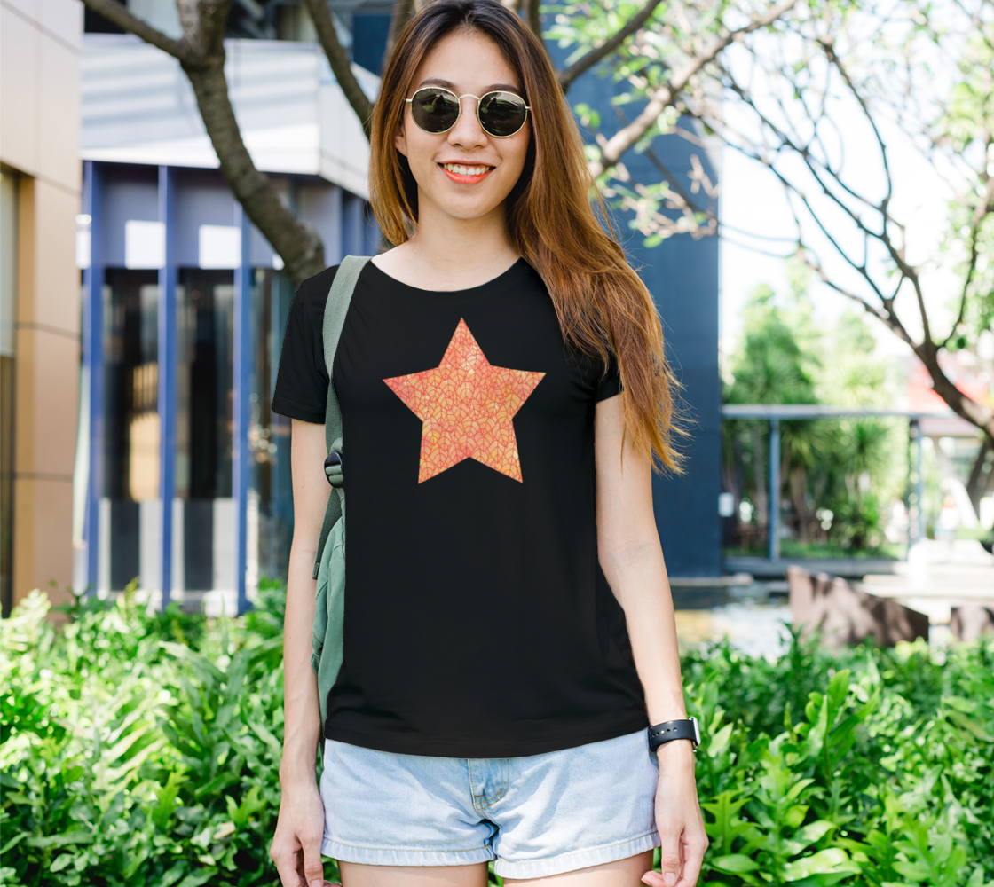 Autumn foliage watercolor star Women's Tee preview