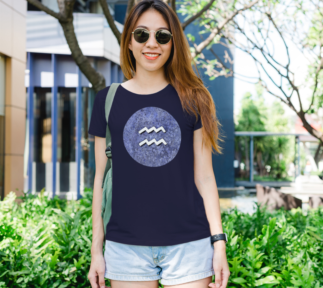 Aquarius astrological sign Women's Tee preview