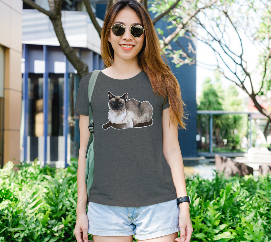 Siamese cat Women's Tee preview