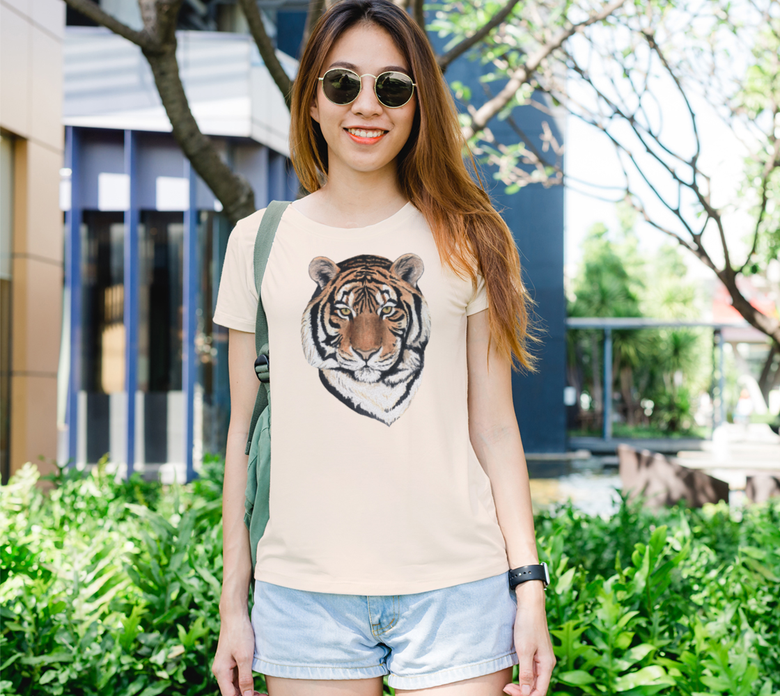 Tiger portrait watercolor Women's Tee preview