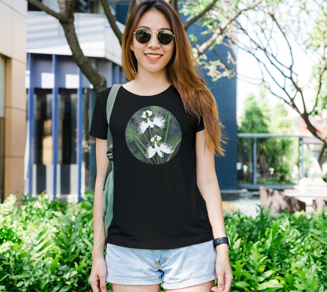 White egret orchids flowers Women's Tee preview