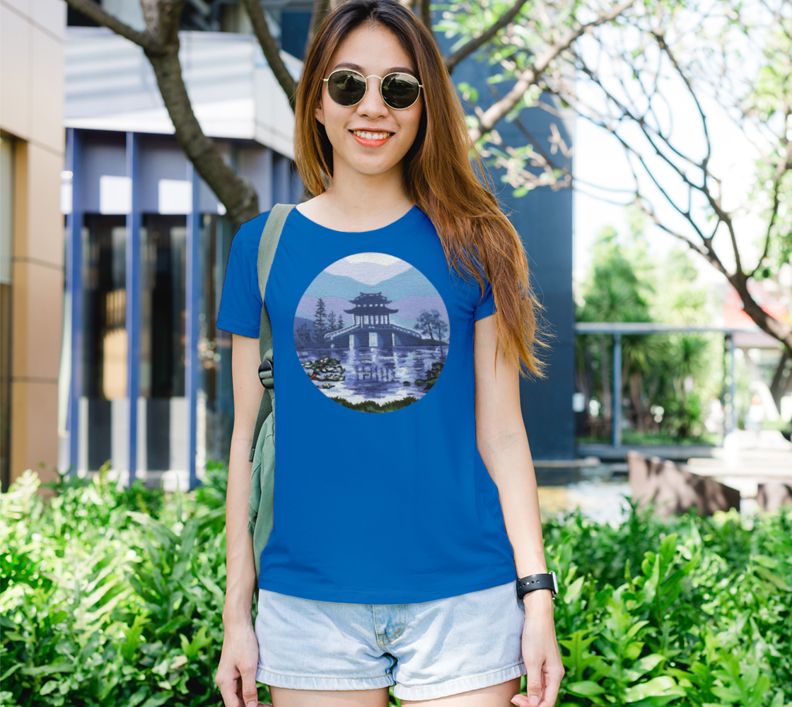 Japanese landscape Women's Tee preview