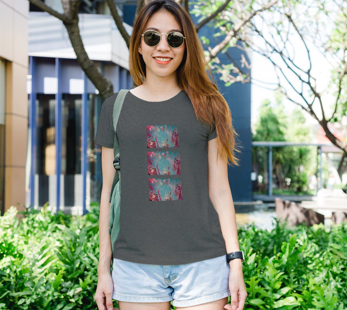 Aperçu de Magic Teal Bella Tshirt #1