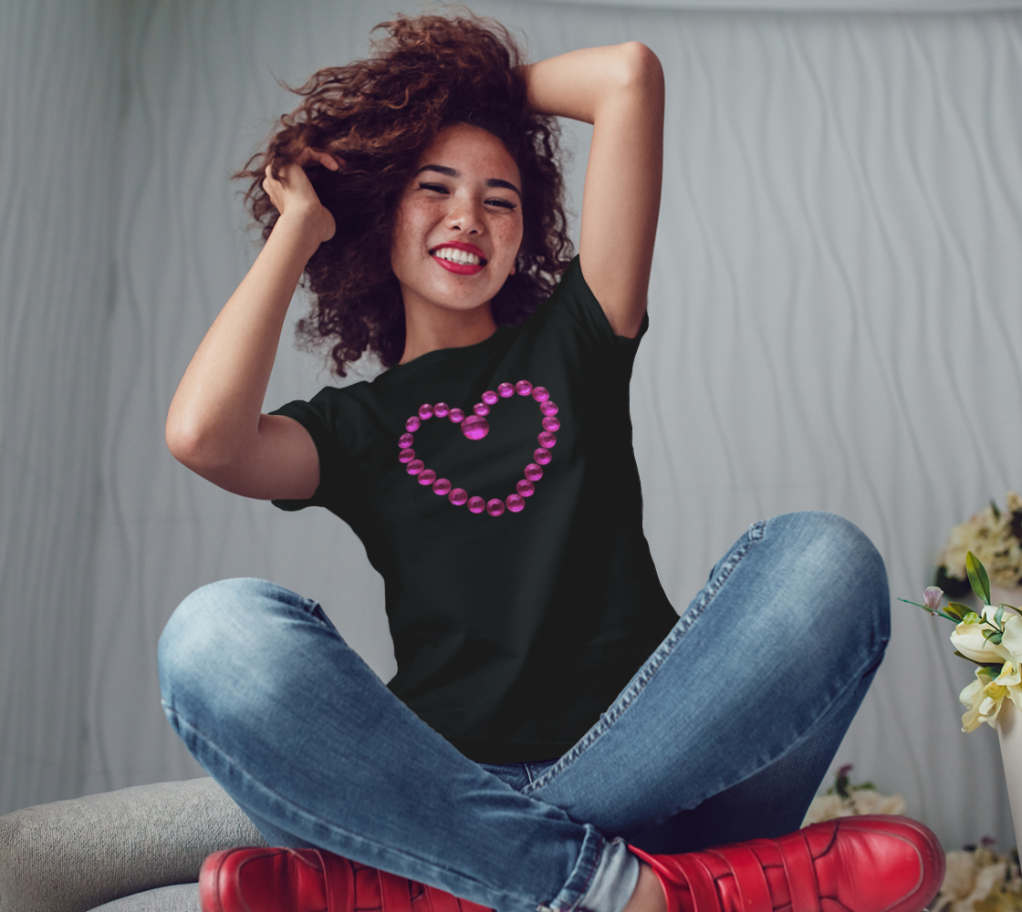 Pink Bead Love Heart Tee preview #3