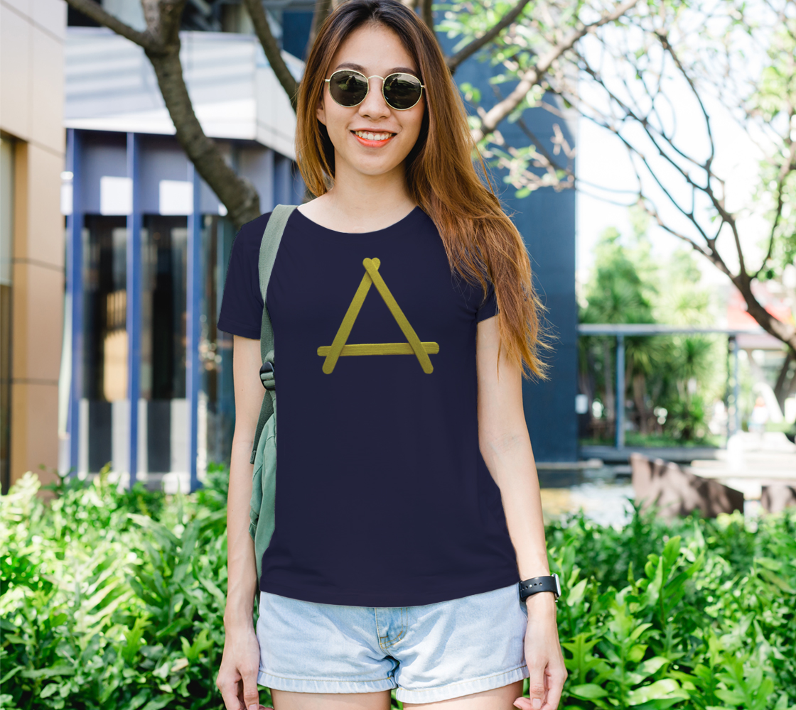 Popstick Triangle in Yellow Womens Tee preview