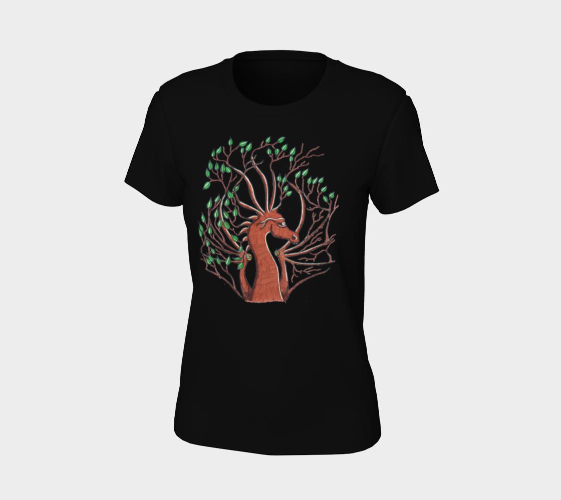 dragon head tree t shirt preview #7