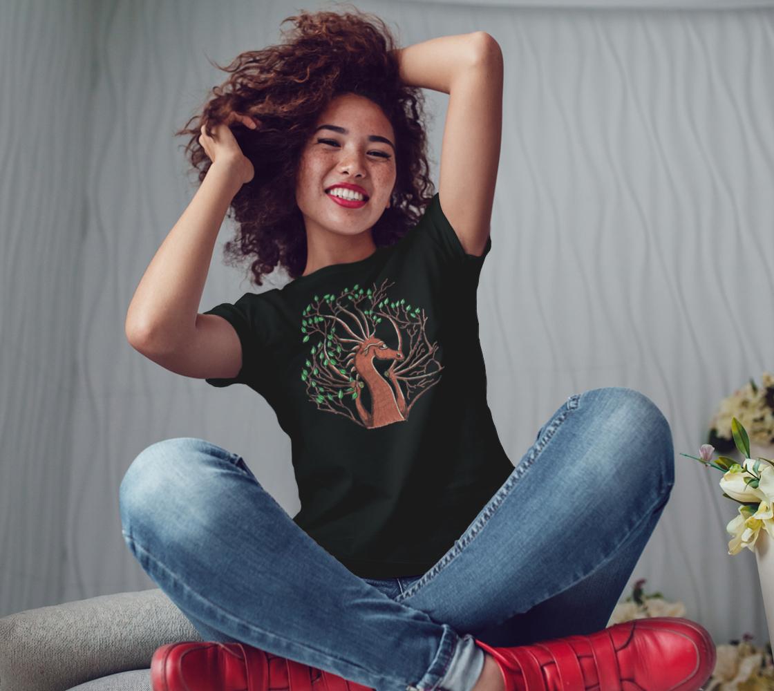 dragon head tree t shirt preview #3