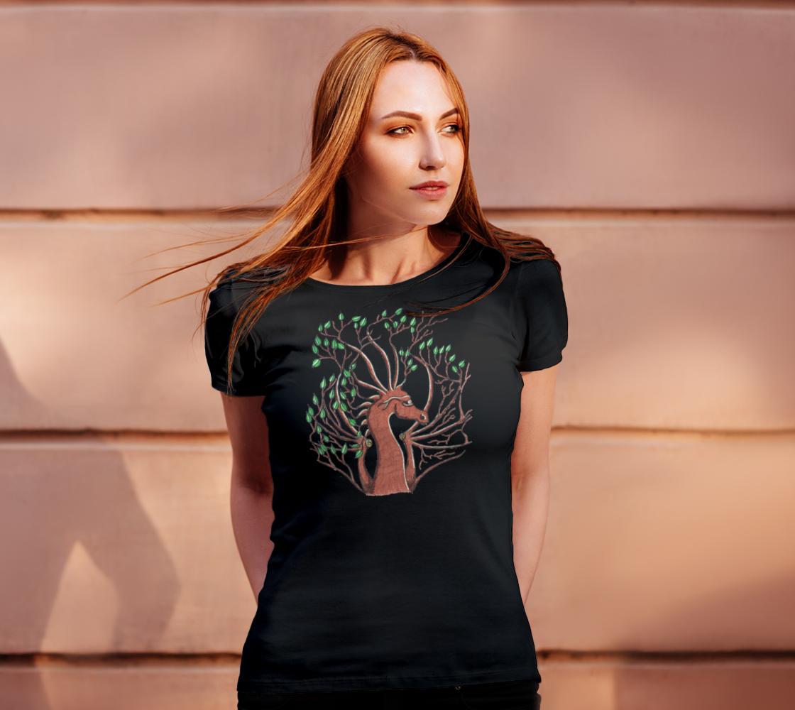 dragon head tree t shirt preview #4