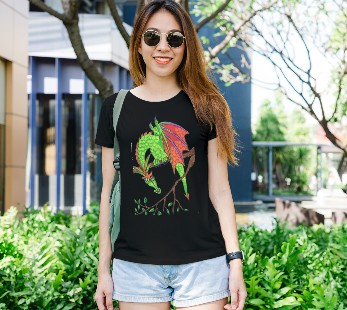 dragon in tree t shirt preview