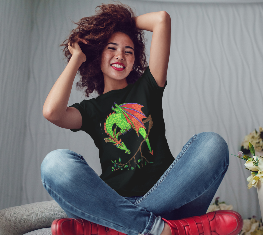 dragon in tree t shirt preview #3