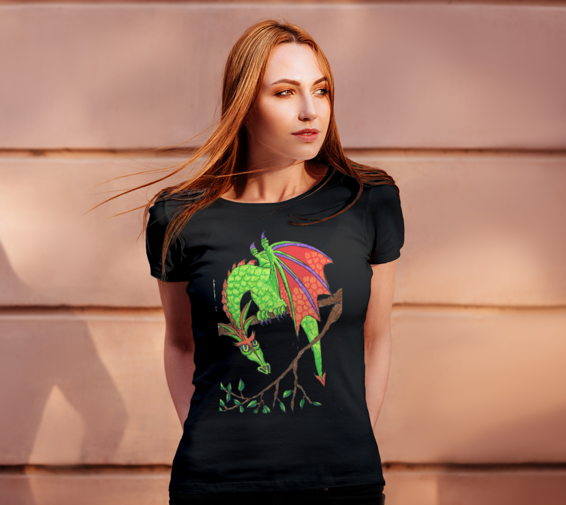 dragon in tree t shirt preview #4