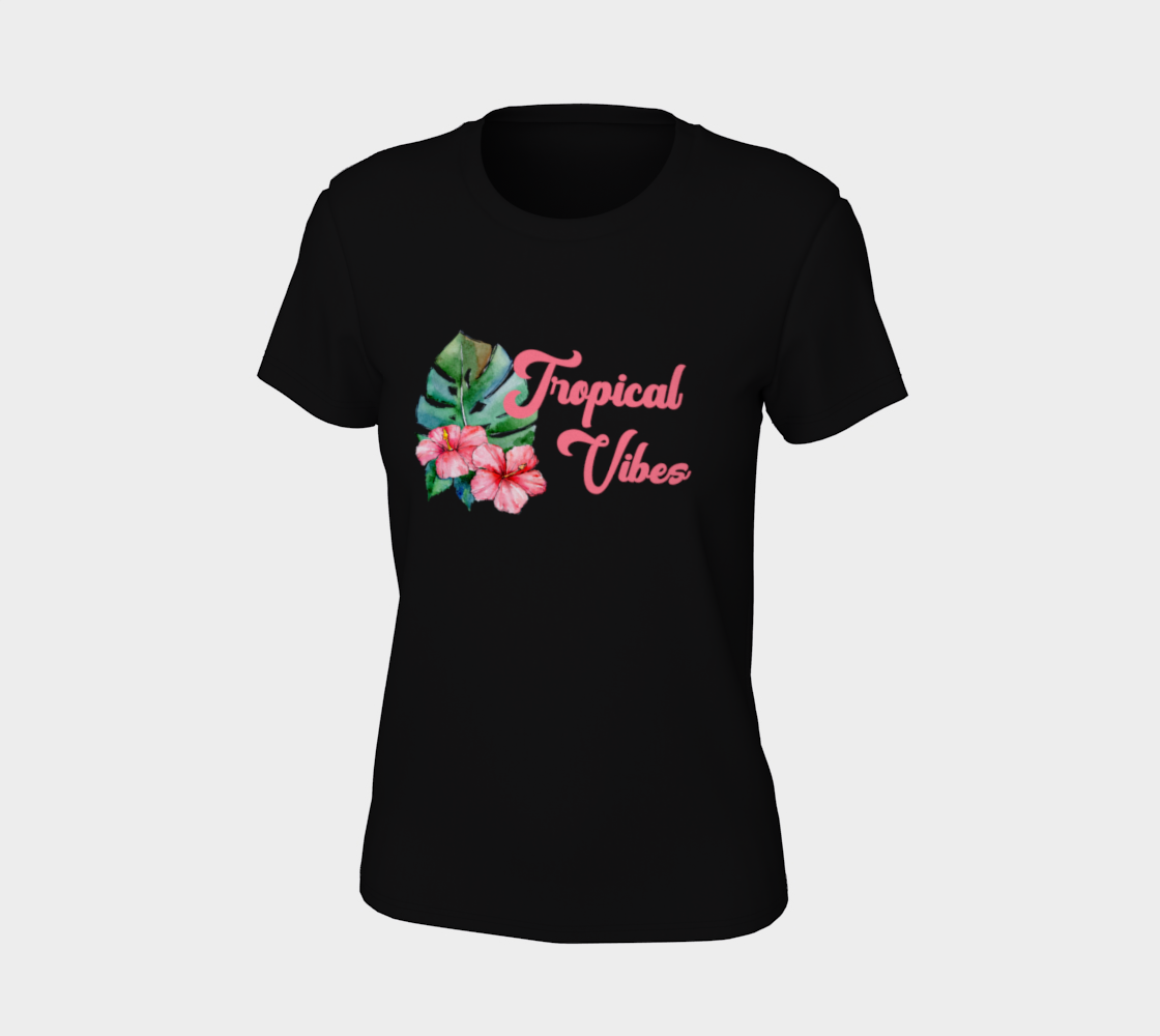 Tropical Vibes Floral Watercolor Tee preview #7