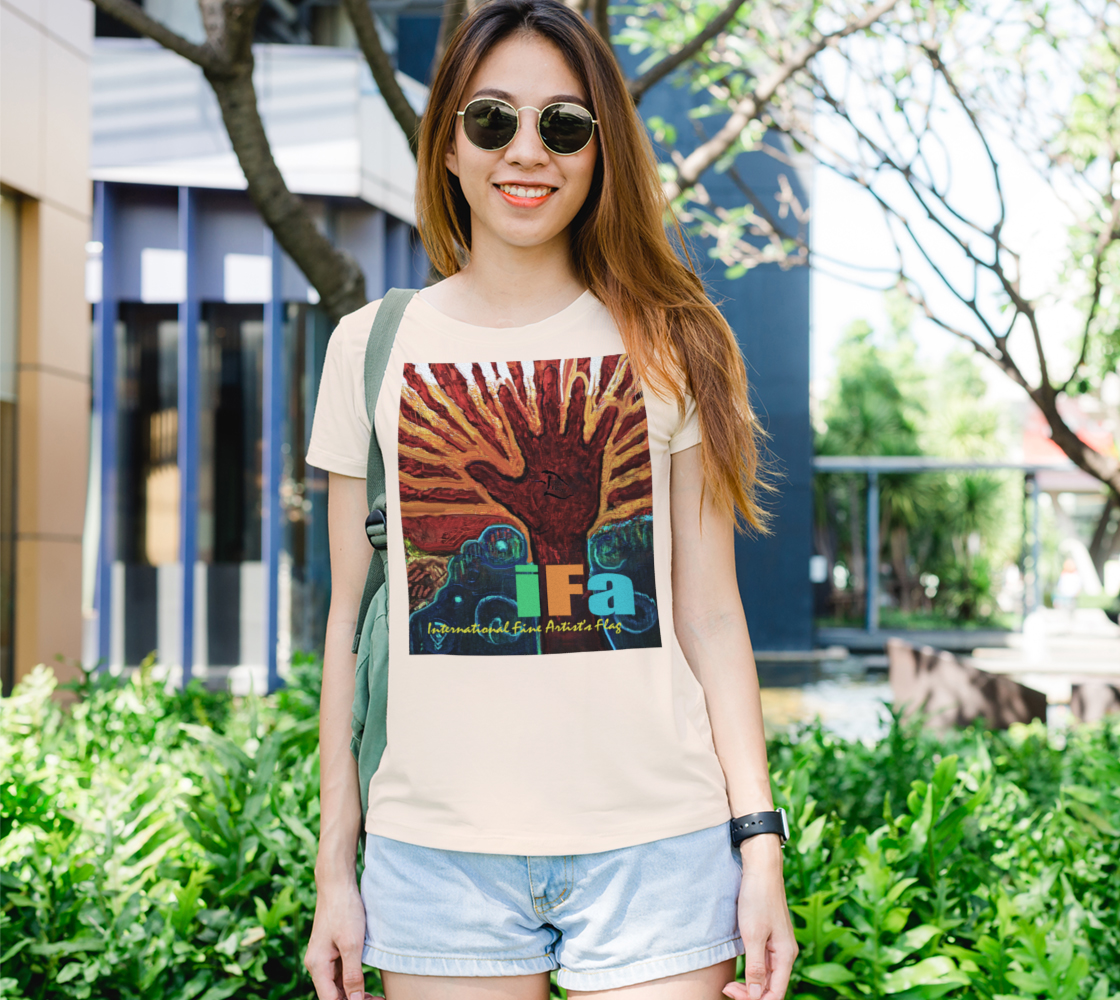 OFFICIAL INTERNATIONAL FINE ARTIST'S FLAG Tee (Feel the Joy !) aperçu