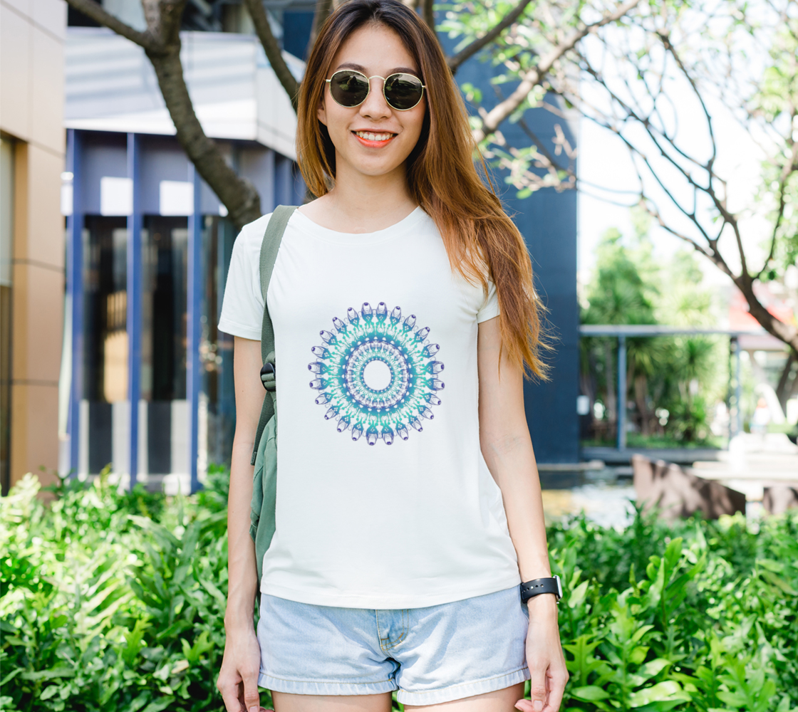 Ethnic Turquoise Floral Mandala preview