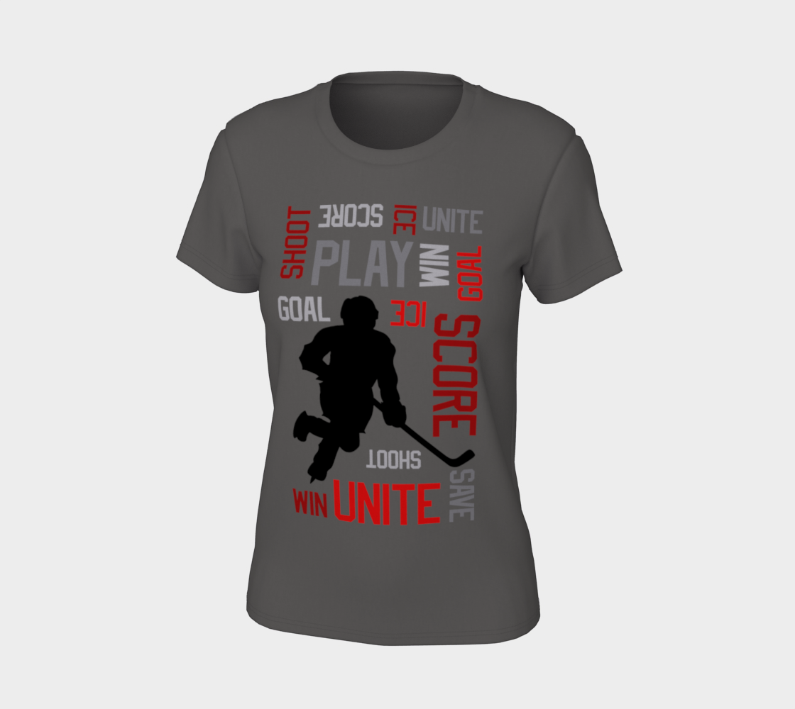 For the Love of Hockey Womens Fitted Tee - Red preview #7
