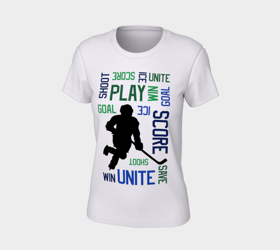For the Love of Hockey Unisex Tee - Blue preview #7