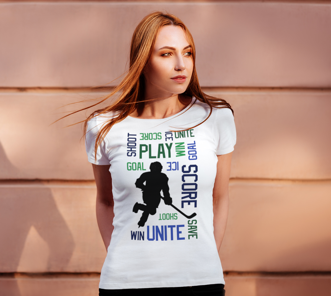 For the Love of Hockey Unisex Tee - Blue preview #4