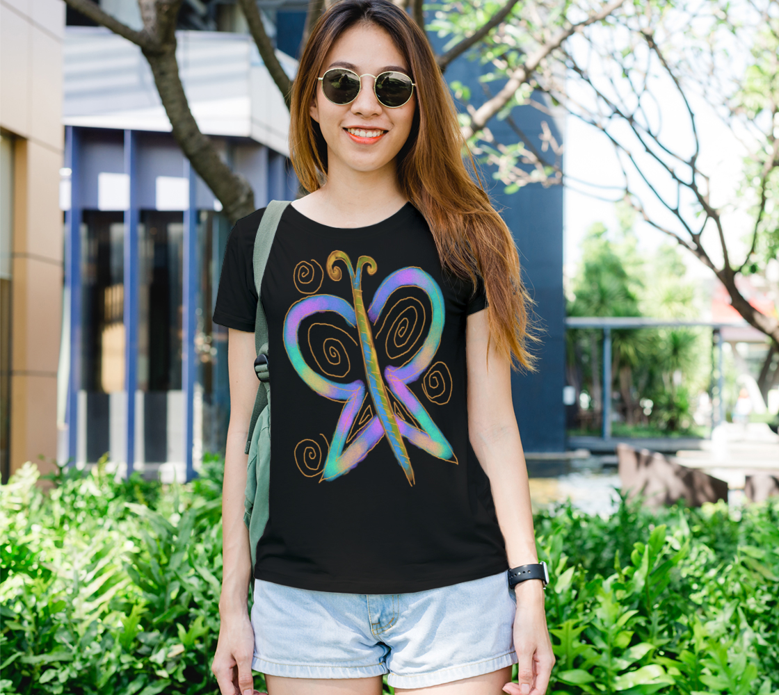 Colorful Butterfly Original Abstract Wearable Art preview