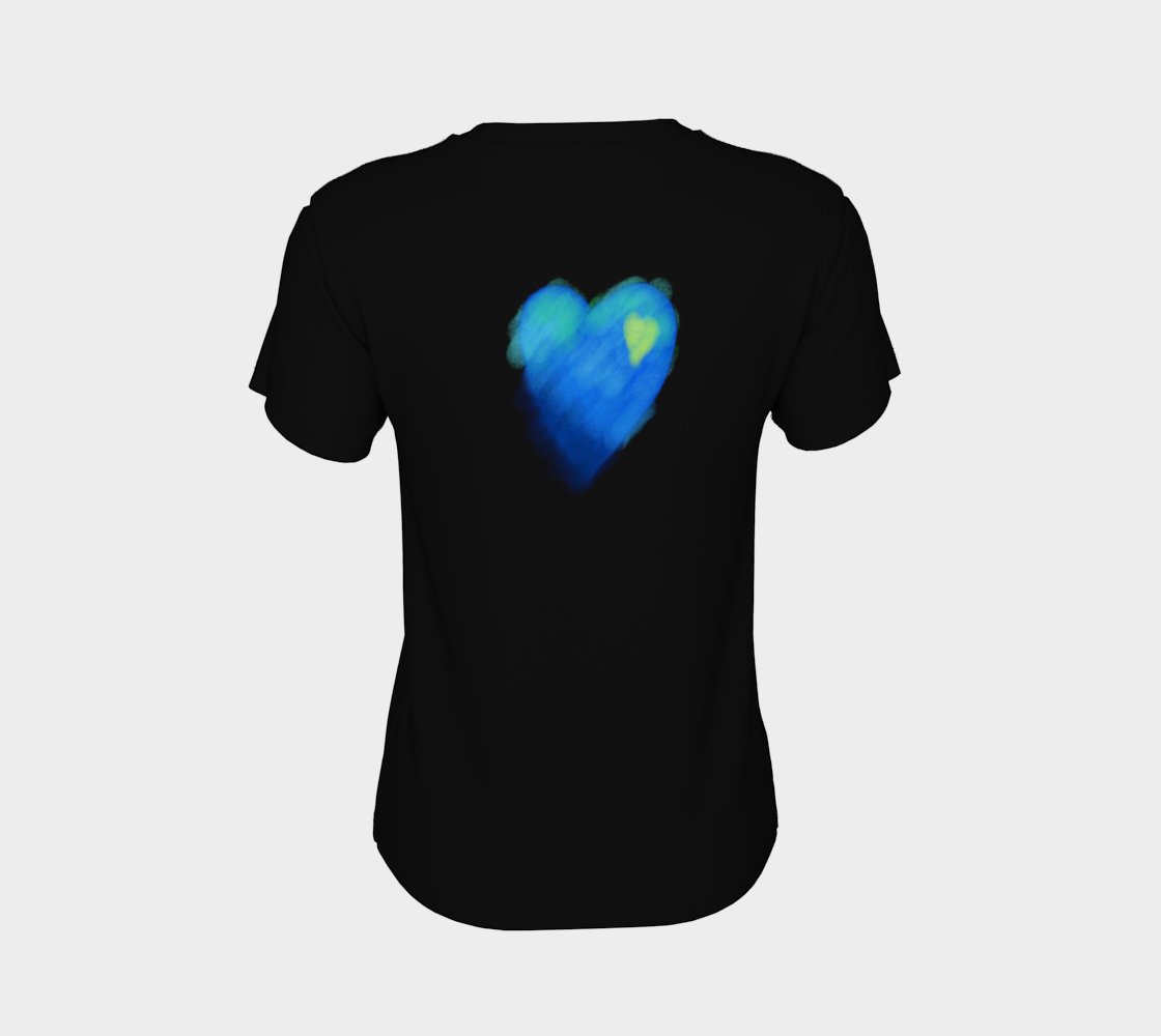 Blue Heart Abstract Wearable Art preview #8