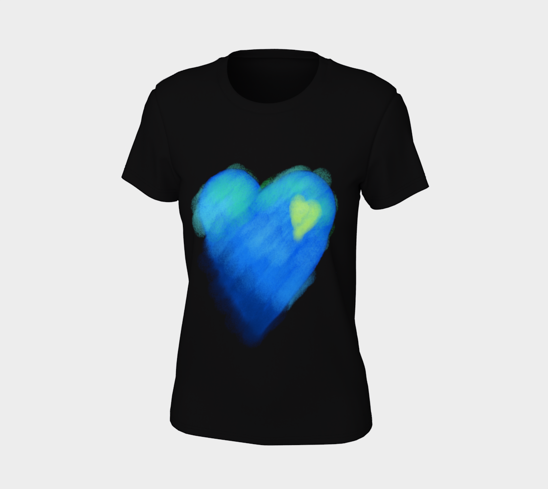 Blue Heart Abstract Wearable Art preview #7