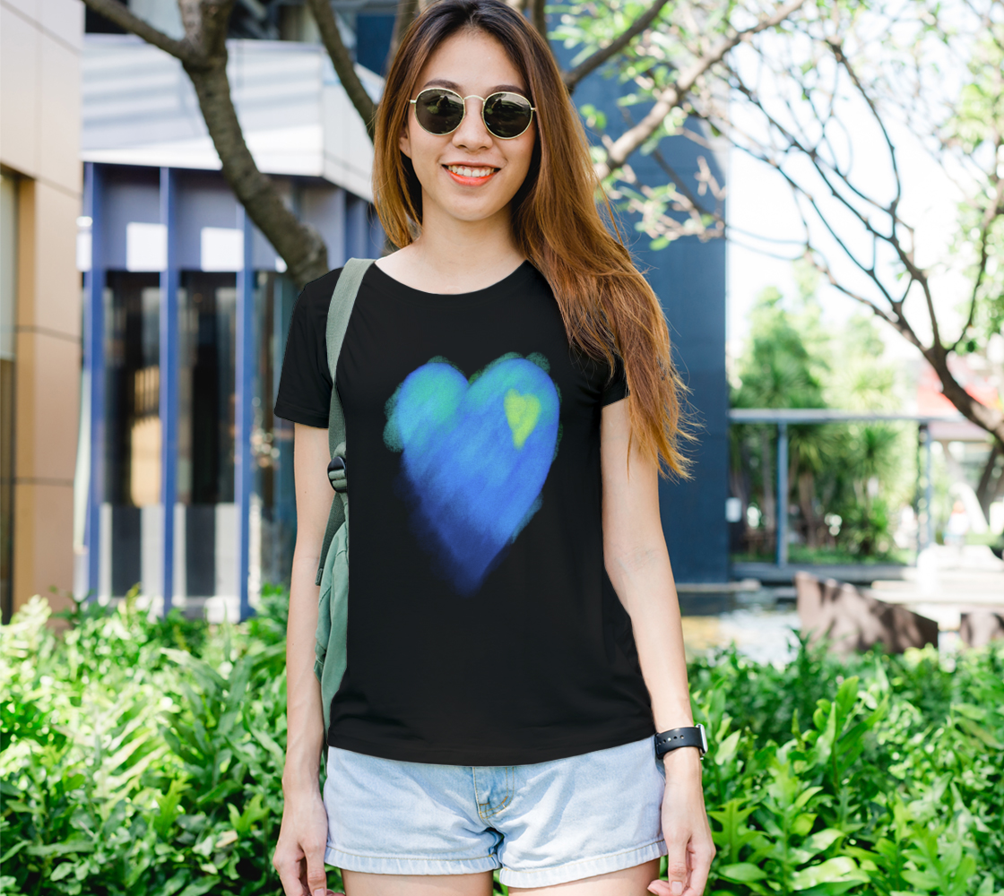 Blue Heart Abstract Wearable Art preview #1