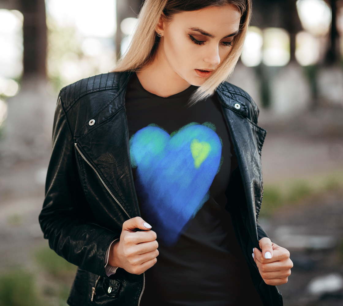 Blue Heart Abstract Wearable Art preview #2