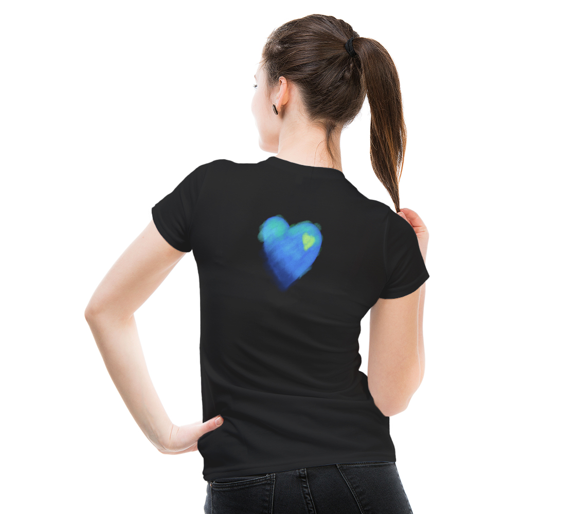 Blue Heart Abstract Wearable Art preview #5