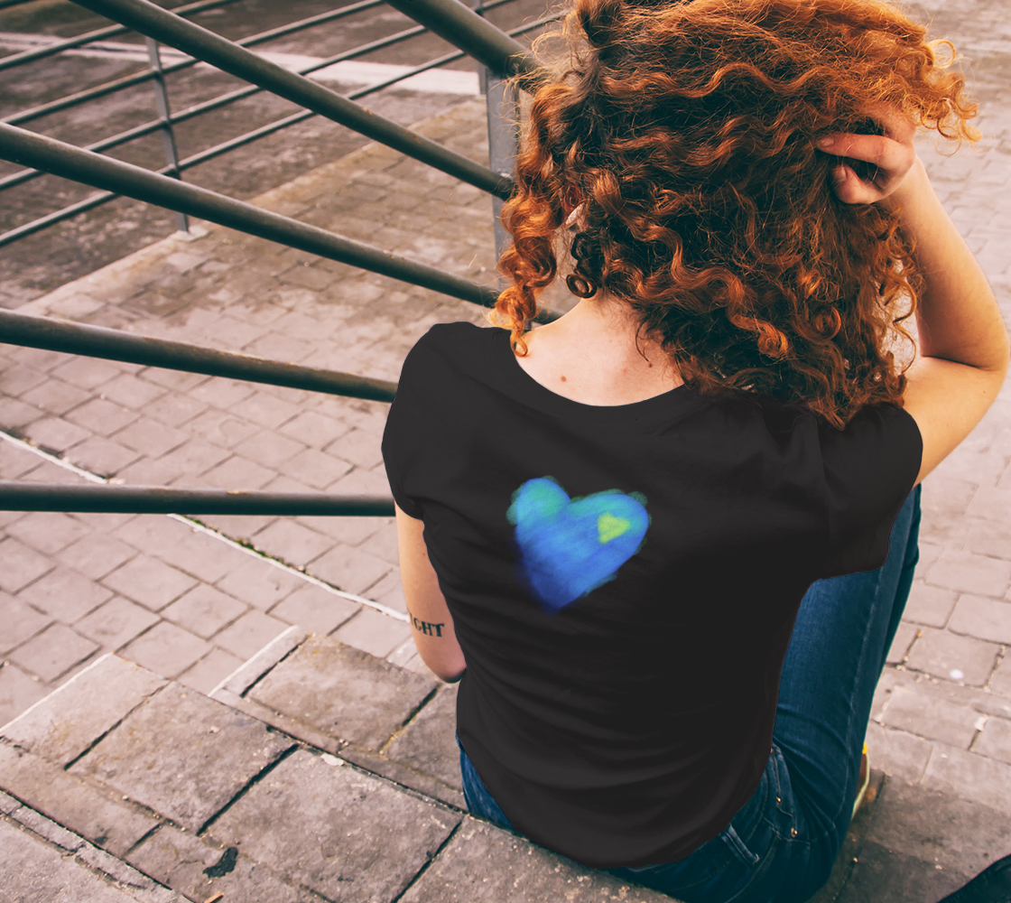 Blue Heart Abstract Wearable Art preview #6