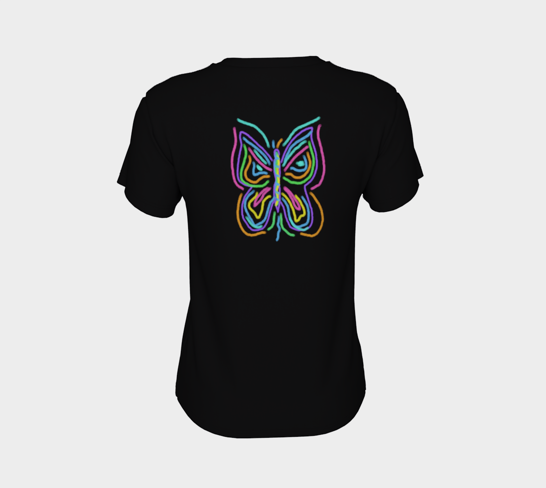 Colorful Abstract Butterfly Wearable Art preview #8