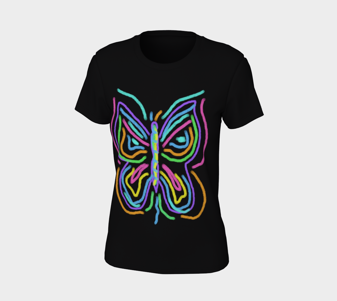 Colorful Abstract Butterfly Wearable Art preview #7