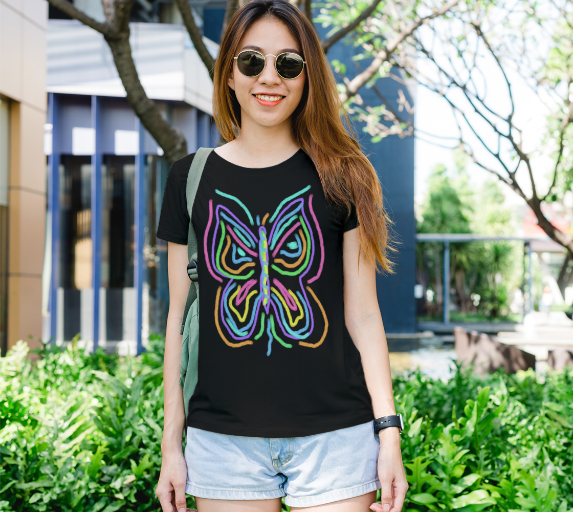 Colorful Abstract Butterfly Wearable Art preview