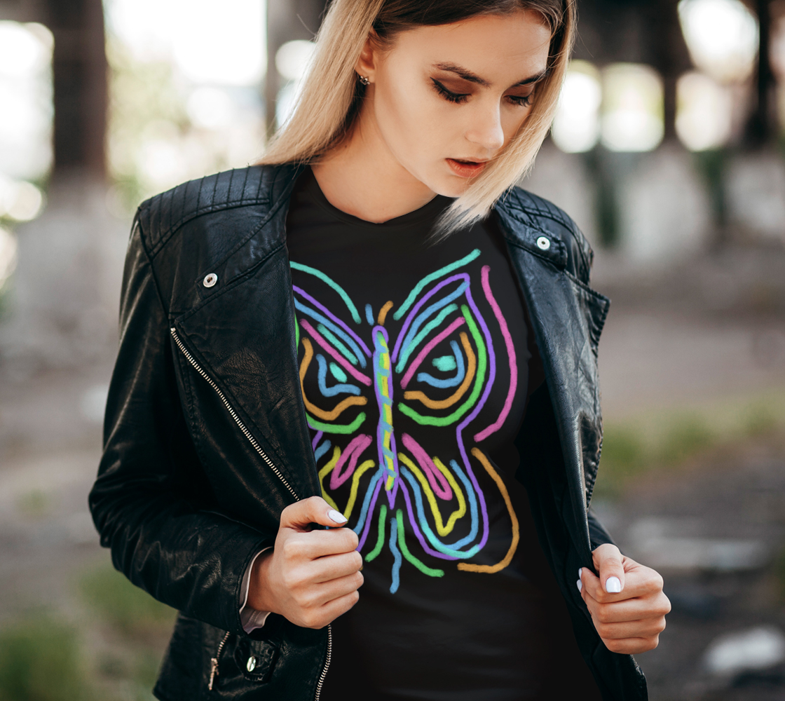 Colorful Abstract Butterfly Wearable Art preview #2