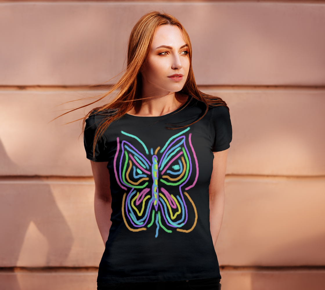 Colorful Abstract Butterfly Wearable Art preview #4