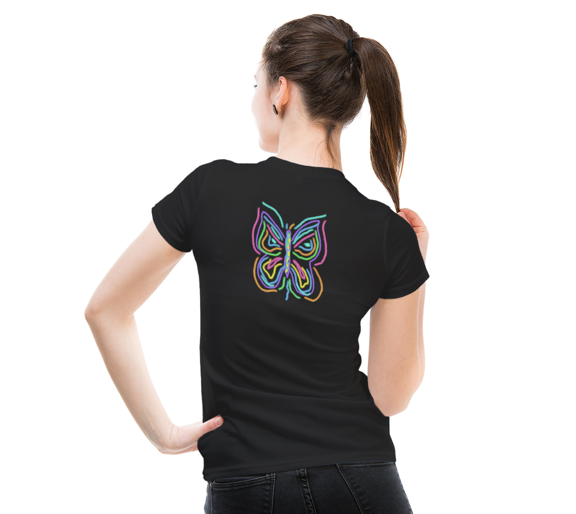 Colorful Abstract Butterfly Wearable Art preview #5