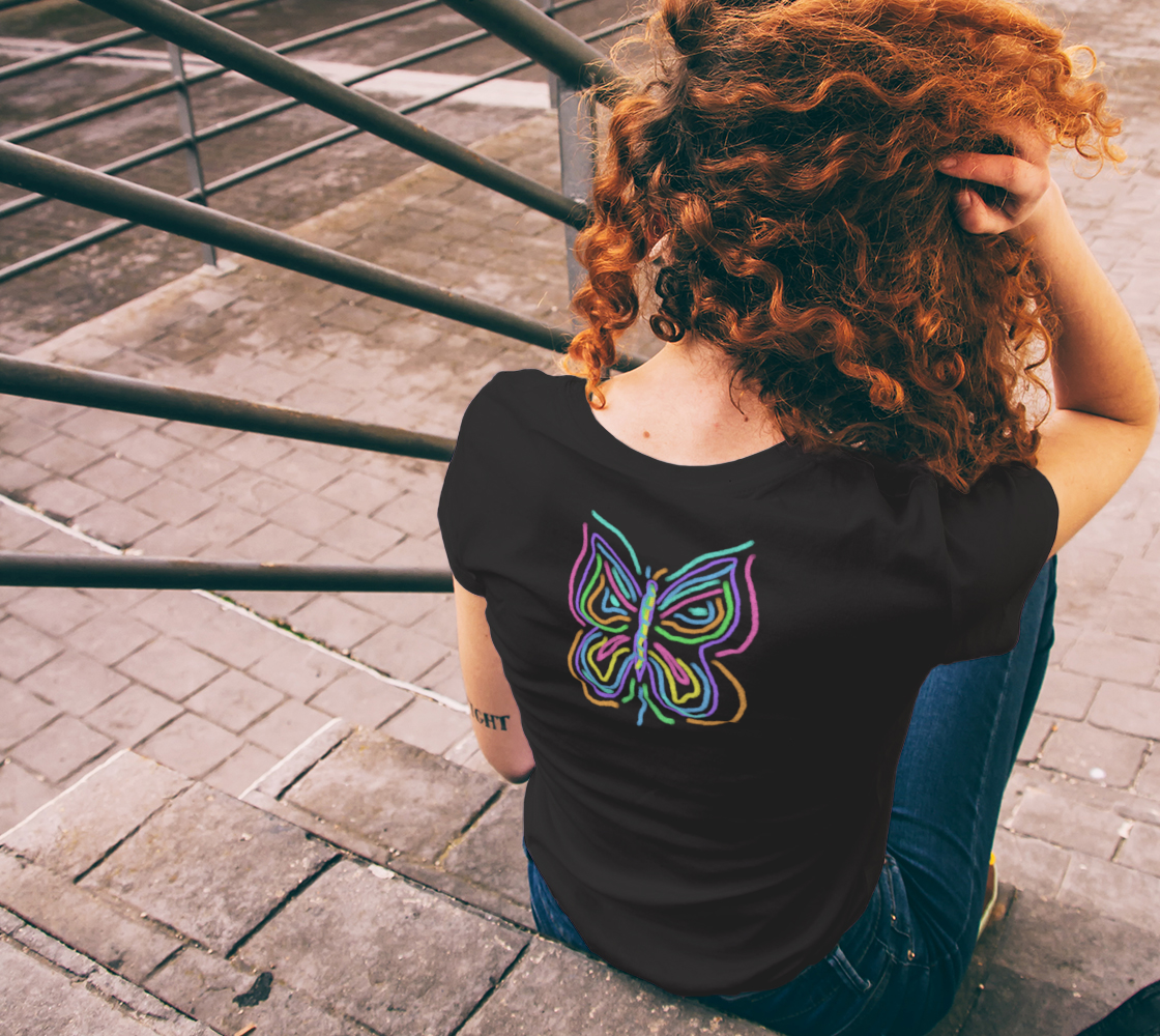 Colorful Abstract Butterfly Wearable Art preview #6