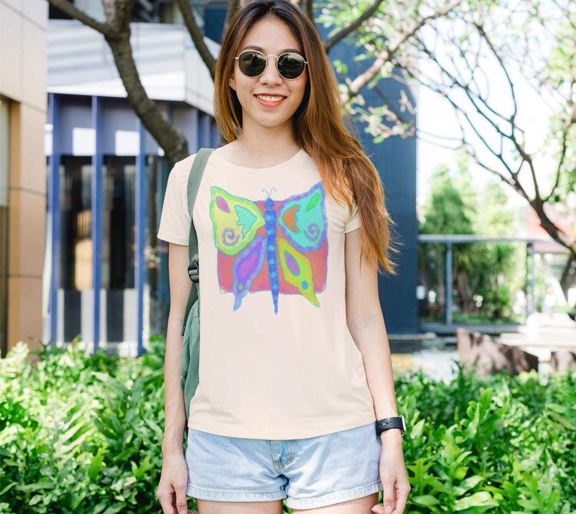Original Abstract Butterfly Art to Wear preview