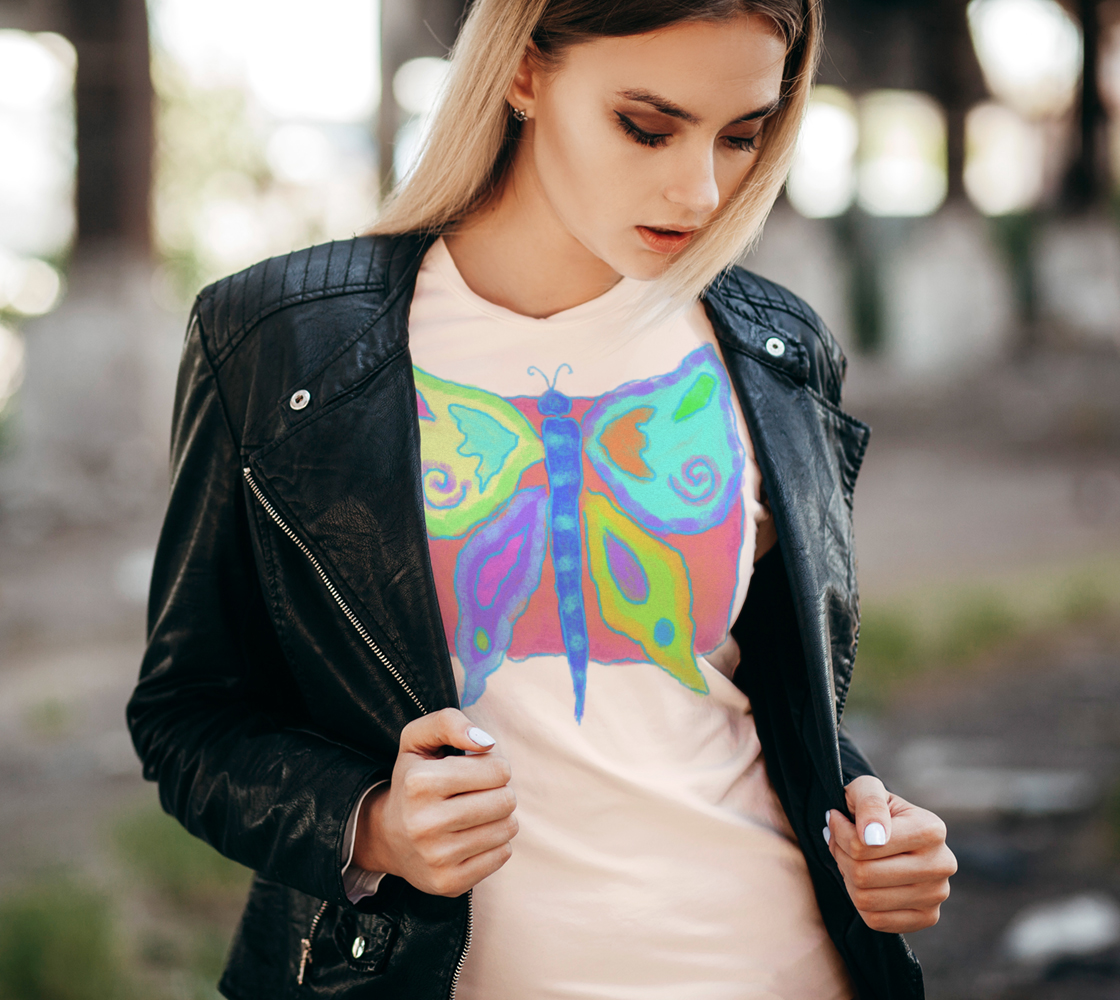 Original Abstract Butterfly Art to Wear preview #2