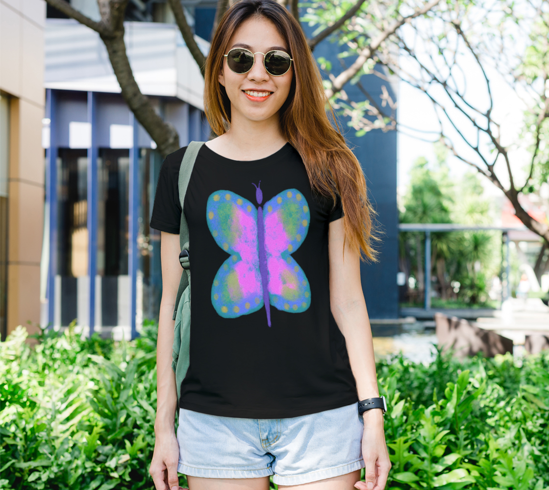 Colorful Abstract Butterfly Art to Wear preview